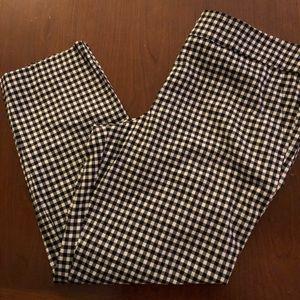 Loft  black and white check pant . Sz/14